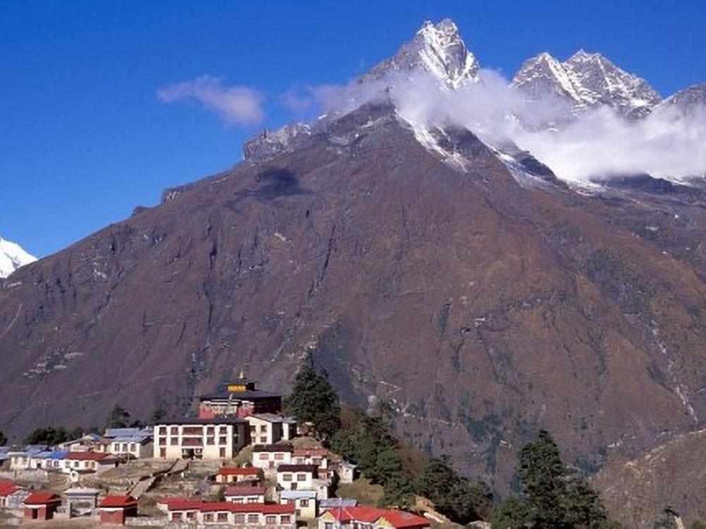 Mt. Khumbila und Thyangboche Kloster